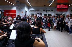 Constantino Martínez-Orts y su banda sinfónica protagonizaron una muestra para los clientes del transporte público. Un hecho sin precedentes. #fsorchestra #fsotour2013 #transportepublico #madrid #musicacine #bso #film #cine
