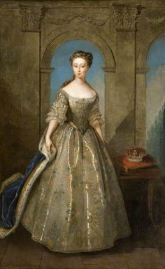 Portrait of the daughter of George II of Great Britain by Philip Mercier, painted in 1728  Anne, Princess Royal