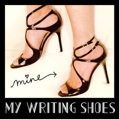 Jimmy-Choo black paten leather Lang heels ... #AmWriting #WritingShoes #LoveInRewind #TaliAlexander