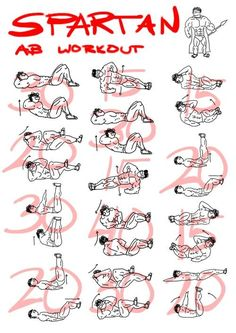 Spartan ab workout - healthy fitness training sixpack core b Fitness Workouts, Sport Fitness, Mens Fitness, At Home Workouts, Fitness Tips, Fitness Motivation, Health Fitness, Fitness Shirts, Body Workouts