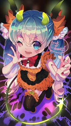Vocaloid Halloween Anime girl