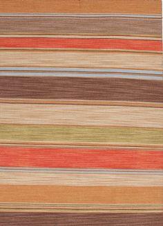 Jaipur Rugs RUG103795 Flat-Weave Stripe Pattern Wool Red/Brown Area Rug ( 9x12 )
