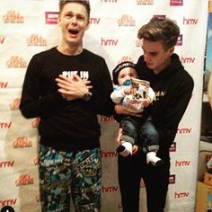 Instagram photo by joe_sugg - I think I'm starting to get better at holding babies.