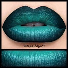 """#ShareIG """"A Forest"""" (inspired by The Cure) @five11_fashion Custom hand made lipstick in the center, MUFE 8E Shadow Pencil, & NYX Black Gel Liner."""