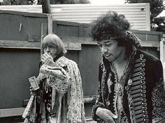 Brian Jones and Jimi Hendrix