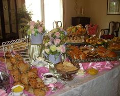 Tea party food table this is YUMMY from teapartygirl.com