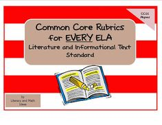 Common Core Rubrics for every grade.  Click the image to access them. $4