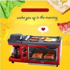 Cheap breakfast machine, Buy Quality coffee toaster directly from China egg toaster Suppliers: Breakfast Machine Bread Baking Maker Bread Toaster /Fried Egg/ Coffee Cooker Multifuntion Breakfast Machine Omelette, Bread Toaster, Egg Coffee, Ali Express, Bread Baking, Kitchen Accessories, Cool Kitchens, Cooker, Kitchen Appliances