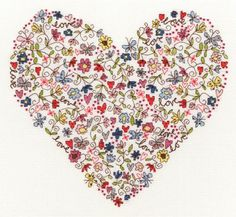 Love Heart Cross Stitch Kit   sewandso