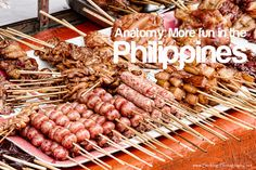 anatomy-its-more-fun-in-the-philippines. Philippines Tourism, Philippines Culture, Filipino Street Food, Tourism Department, Snack Recipes, Snacks, Fruit Smoothies, More Fun, The Good Place