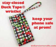 DIY Fabric Phone Case : DIY Stay Closed Duck Tape® Phone Wristlet