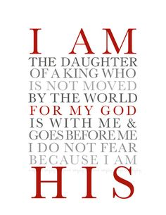 Printable Wall Art for Your Home  I AM HIS  8X10 by inspiredsimply