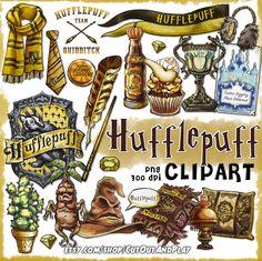 Hufflepuff clipart, printable clipart, Hufflepuff planner, Harry potter clipart, Hogwarts house.  #etsy #harrypotter #hogwarts #pumpkinjuice #cedricdiggory #yuleball #mimbulus #mimbletonia #mandrake #quidditch #triwizard #cedric #earmuffs #clipart #art #graphics #planner #stickers #printable