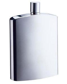 Flasks - Visol David Brushed Metallic Large Stainless Steel 8 oz. Hip Flask - Oxemize.com