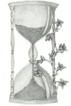 plant, stem, flower...(related to plants) + sand clock