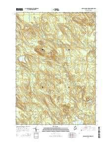 ~ Porcupine Mountain ME topo map, 1:24000 scale, 7.5 X 7.5 Minute, Current, 2014