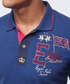 La Martina Slim Fit Guards Contrast Trim Polo Shirt