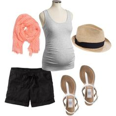 Pregnancy :Summer Casual:, created by keribrantley on Polyvore