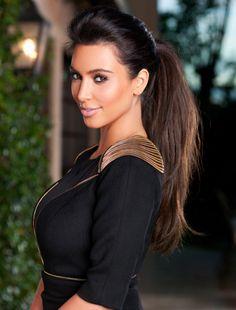 Kim Kardashian. Hair and Makeup.