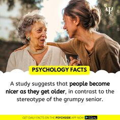 Psychology Facts Psychology Fun Facts, Daily Facts, Getting Old, Google Play, People, Getting Older, People Illustration, Folk