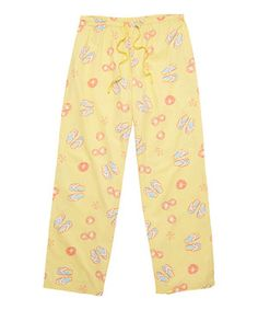 Loving this Canary Yellow Flip Flop Pajama Pants on #zulily! #zulilyfinds