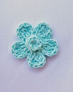 Flower Girl Cottage: Free Crochet Flower Pattern - used on girl headbands with button in the middle