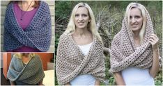 Mobius Twist Shawl and Hooded Cowl - http://crochetblog.net/mobius-twist-shawl-hooded-cowl/