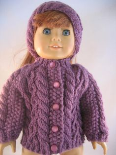 Hey, I found this really awesome Etsy listing at https://www.etsy.com/listing/208299671/american-girl-doll-clothes-aran-cardigan