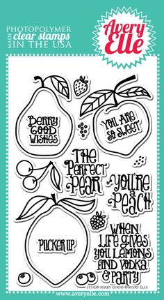 Avery Elle  - Berry Good Clear Stamps, $15.00 (http://www.averyelle.com/berry-good-clear-stamps/?page_context=category