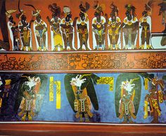 Bonampak - Interior Murals. This is how the colors would have looked.