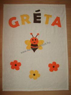 Méhecskés névre szóló takaró