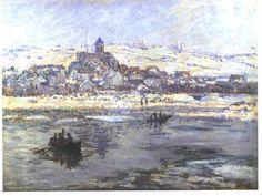 Vétheuil in Winter -  Claude-Oscar Monet, 1878−79. The Frick Collection, New York. #Monet