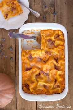 Lasagne zucca speck noci