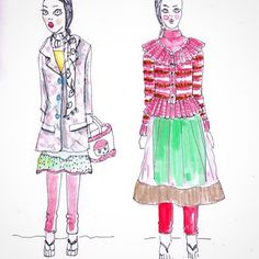 Looking at sketches from our trip to India - lesson learned: you can wear it all together!.. #TRD #trends #instadaily #inspiration #illustration #linedrawing #fashion #fashioninspiration #fashionillustration