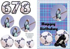 A bithday card for a soccer fan, aged 6 to 9 in an easy to make pyramid style. fits A5 envelope when finished. Soccer Fans, A5, Welt, Envelope, Birthday Cards, Greeting Cards, Card Making, Cards, Bday Cards