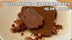 Toffee Almond Chocolate Bars / Fat Bombs - 4g net carbs each - YouTube