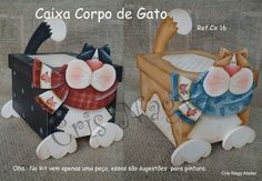 Caixa Corpo de Gato Cx 16  I love these!