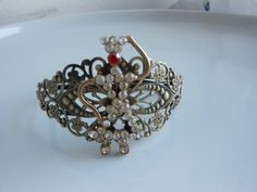 Girl dancing  filigree cuff bracelet upcycled by 2007musarra, $36.99