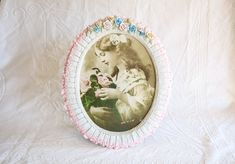 Resin Oval 8x10 Picture Frame, Victorian Style Photo Frame