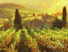 Tuscany Landscape, Digital Art, Instagram Images, Wall Art, Artist, Artwork, Painting, Kunst, Work Of Art