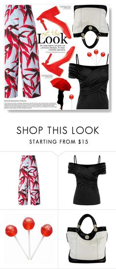 """""""Floral pants"""" by ucetmal-1 ❤ liked on Polyvore featuring Marni, Jill Stuart, Gianvito Rossi and floralpants"""