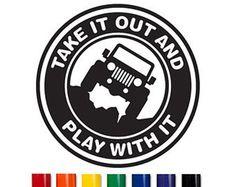 """JEEP-Hood-Windshield-Fender-Decal-Sticker-Wrangler-YJ-TJ-JK-Sahara-Rubicon """"It's just a rock, get over it"""" Jeep decal Jeep Stickers, Jeep Decals, Bumper Stickers, Vinyl Decals, Vehicle Decals, Vinyl Art, Jeep Willys, Jeep Jeep, Jeep Rubicon"""