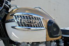 Restored Triumph Bonneville - 1964 Photographs at Classic Bikes Restored - Moto Triumph Bonneville, Triumph Motorbikes, Triumph Cafe Racer, Triumph Scrambler, Scrambler Motorcycle, Honda Motorcycles, Triumph Motorcycles, Cafe Racers, Custom Motorcycle Helmets