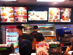 KFC food court Pondok Indah Mall 2. August 8, 2013.