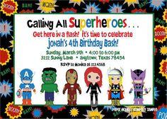 26 best superhero birthday invitations images on pinterest