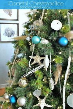 Pretty coastal Christmas tree