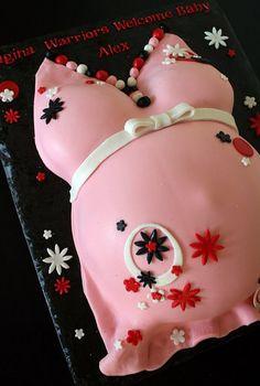V-day Belly cake