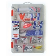 Shop for Eagle Claw Striped Bass Saltwater Tackle Kit. Get free delivery On EVERYTHING* Overstock - Your Online Fishing Store! Fishing Store, Fishing Kit, Fishing Tackle, Bass Fishing, Bass Tackle, Tackle Box, Walmart Usa, Eagle Claw, Offshore Fishing