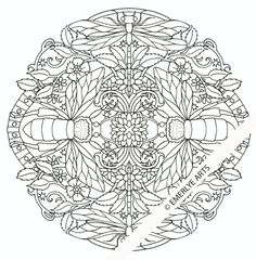 insects mandala an adult coloring page part of emerlye arts new book