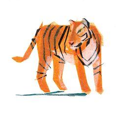 Jack Tiger  Animal Art Print by TinyFawn on Etsy, $18.00